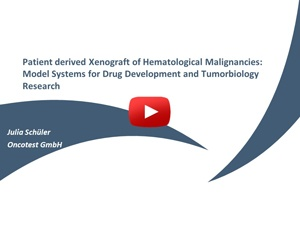 Webinar: Patient-Derived Xenografts of Hematological Malignancies